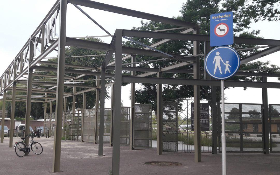 Spoorpark is nu duidelijk voetgangersgebied!