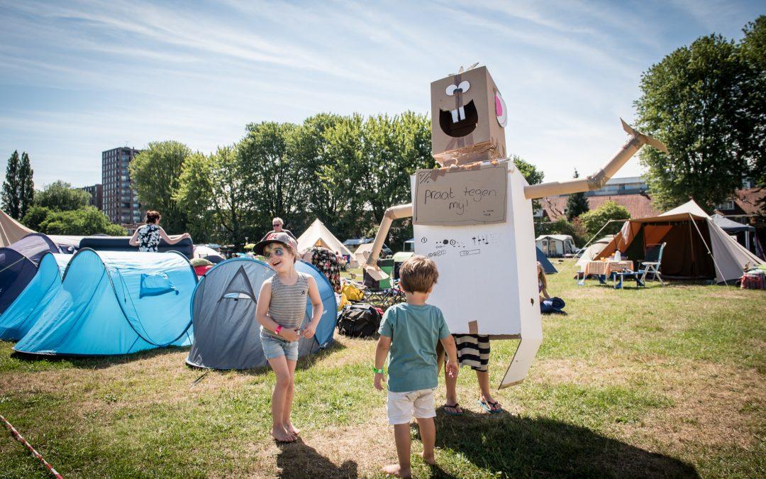 Buurtcamping eerste evenement na opening in Spoorpark