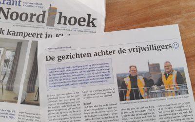Trotse Spoorpark vrijwilliger Bertie in Wijkkrant De Noordhoek