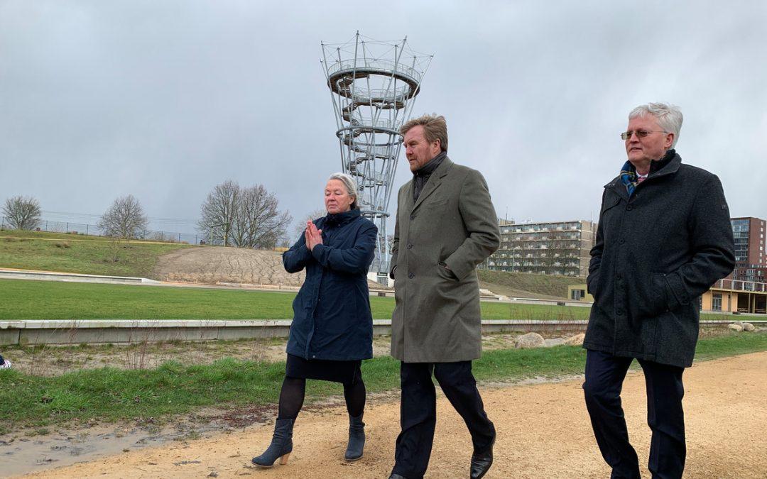 Koning Willem Alexander bezoekt Spoorpark
