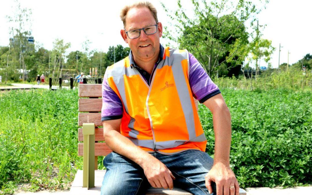 Theo is beheerder in het Spoorpark: 'Ik loop hier al vanaf het begin zo trots rond'