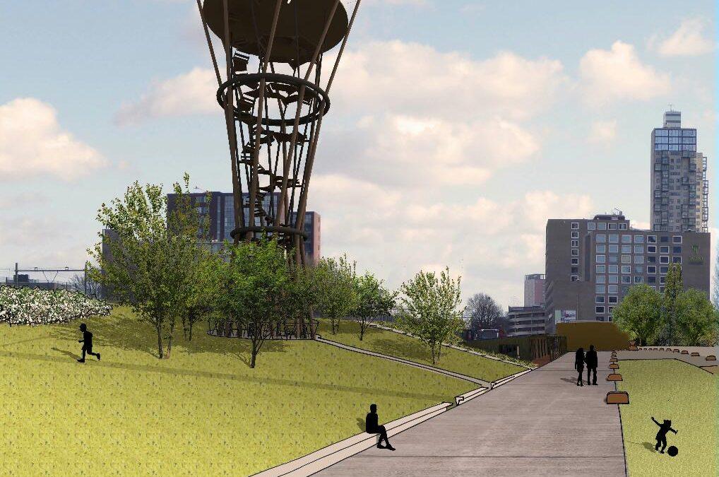 Panoramatoren gaat het Spoorpark met de Kempen verbinden