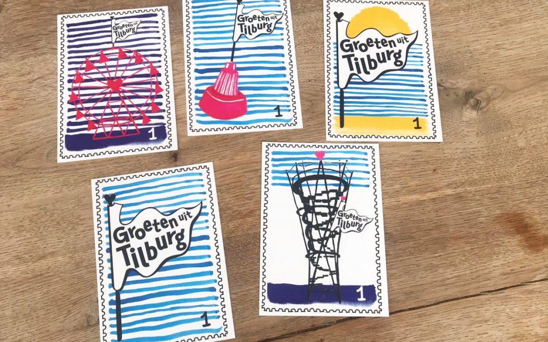 Kempentoren op ansichtkaarten 'Groeten uit Tilburg'