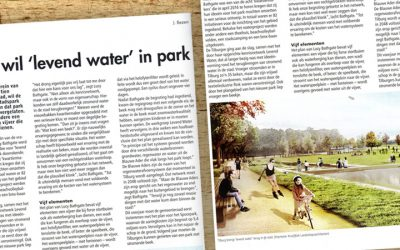 Tilburg wil 'levend water' in park