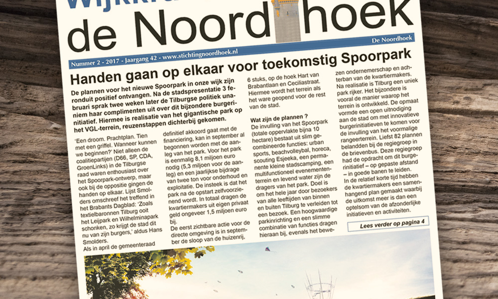 Wijkraad Noordhoek blij met Spoorpark