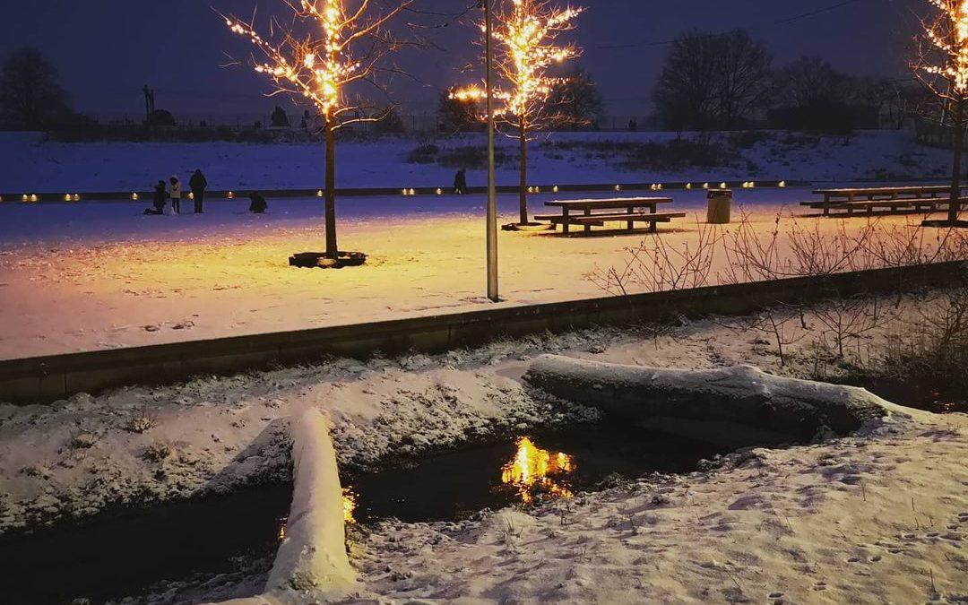 Spoorpark in beeld: sneeuw in het park!