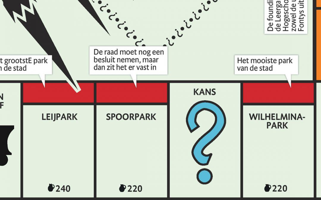 Spoorpark opgenomen in Monopoly Tilburg