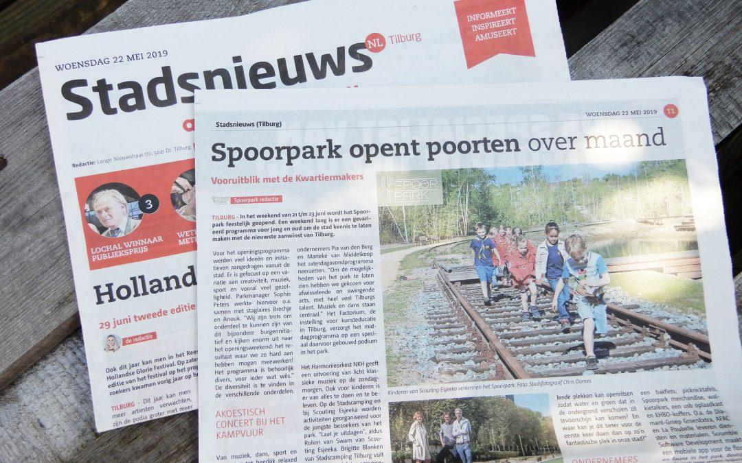 Spoorpark opent poorten over maand
