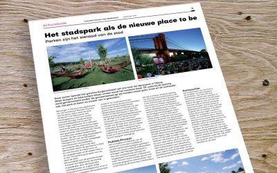 Het stadspark als de nieuwe place to be