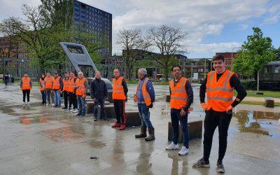 Statushouders maken kennis met vrijwilligerswerk in Spoorpark