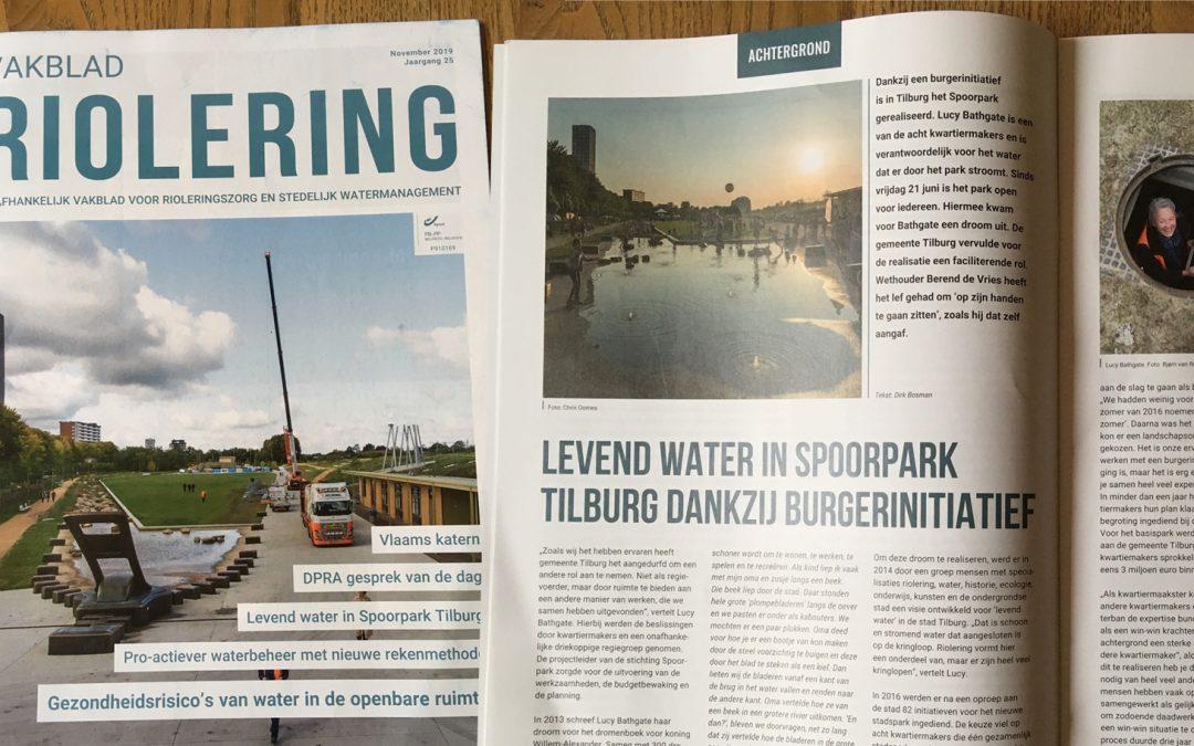 Levend water in Spoorpark Tilburg dankzij burgerinitiatief