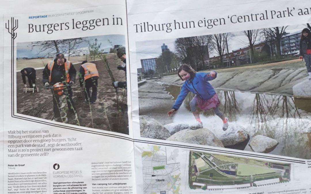 Een park voor burgers door burgers: Tilburgers leggen in de stad hun eigen 'Central Park' aan