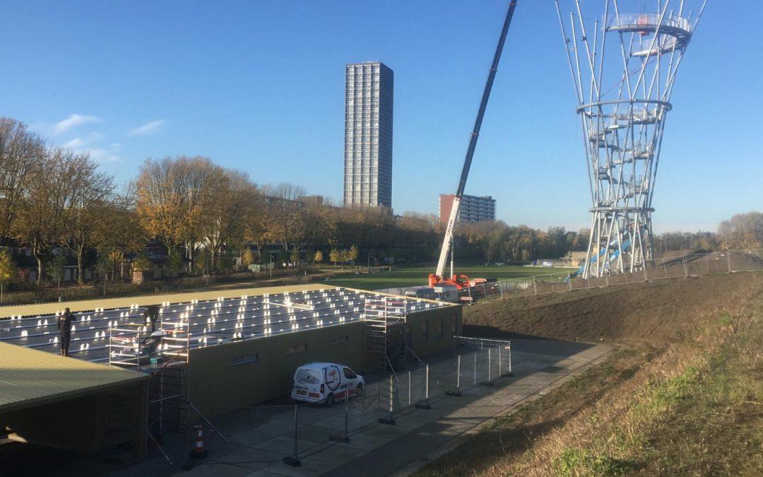 Zonnepanelen geplaatst in Spoorpark